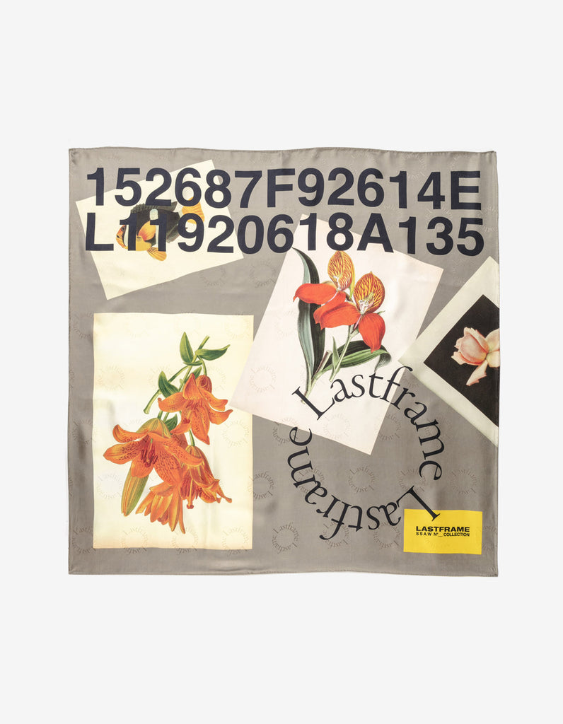 COLLAGE SILK SCARF 90cm x 90cm