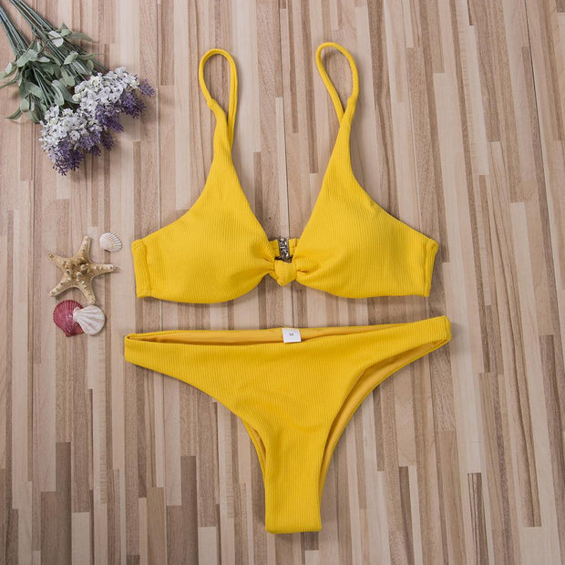 "Bikini ""TAHA'A"" SERENDY Paris ® Yellow S"