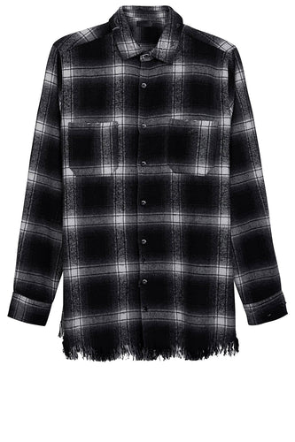 Flanell Shirt - Destroyed - Black