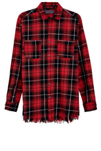 Flanell Shirt - Destroyed - Red