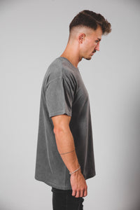 Oversized Washed T-Shirt - Grey washed