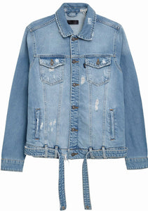 Denim Jacket Destroyed - Light Blue
