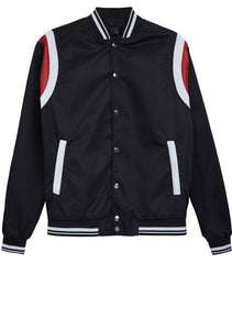 College Jacket Vintage Look - Black