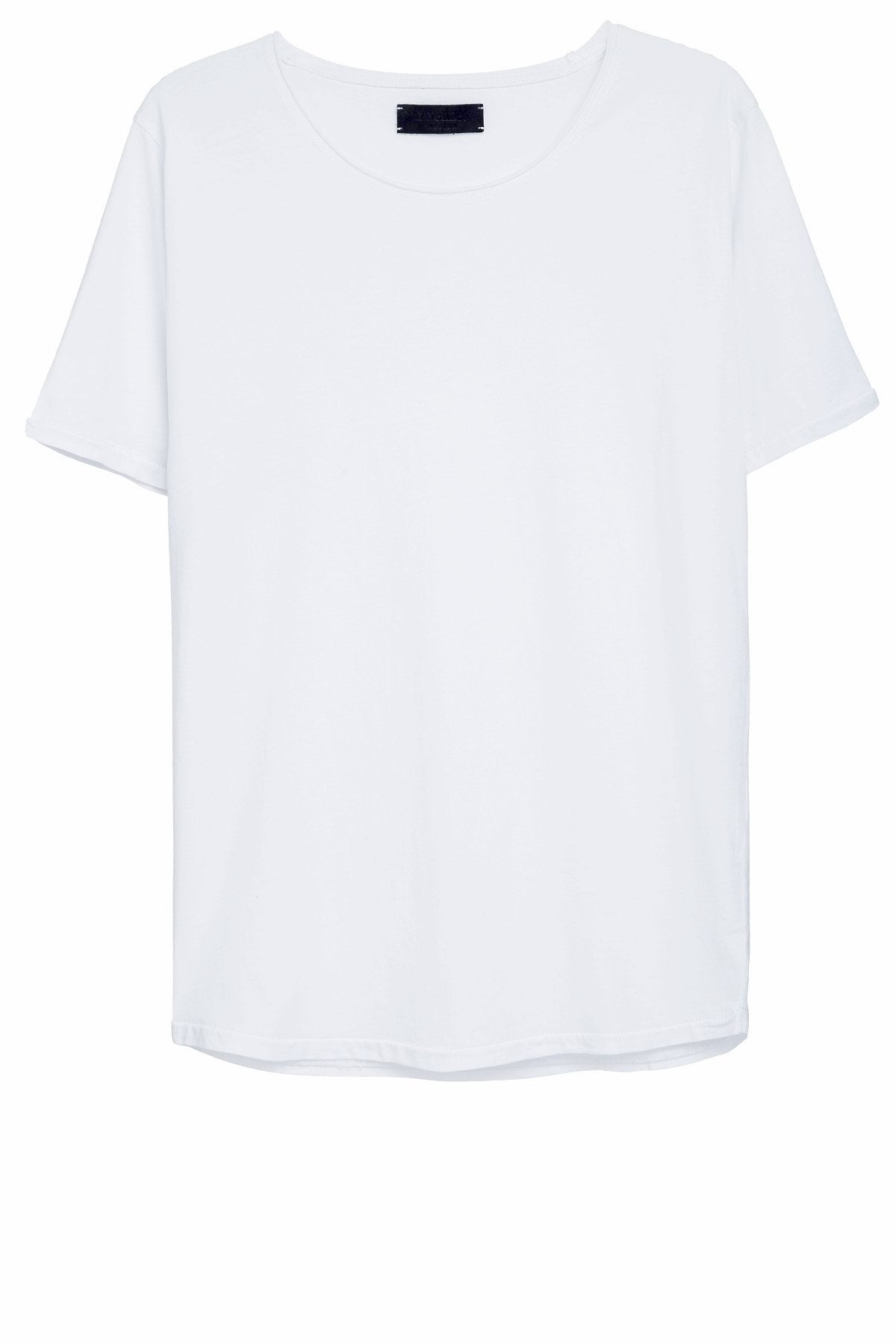 Basic T-Shirt Cut Collar - White