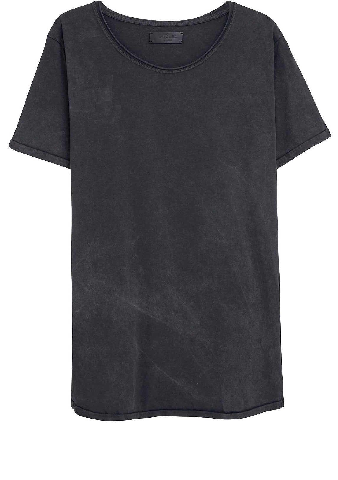 Basic T-Shirt Cut Collar - Black Washed