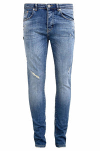 Retro Skinny Fit Jeans - Mid Blue