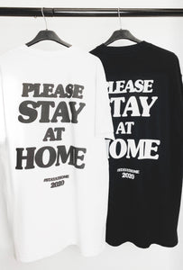 PLEASE STAY AT HOME TEE - BLACK
