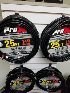 Pro X Power Cables Extension Cord Dj Armor Dj Equipment