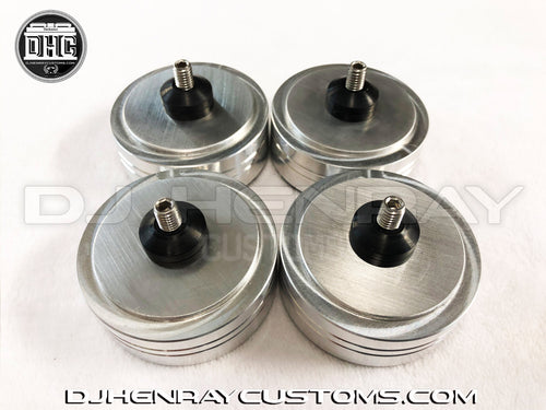Set of 4 Silver DHC1200 Feet - Brushed Aluminum