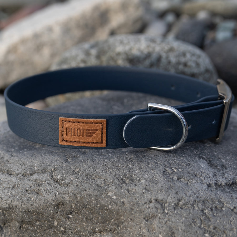 Waterproof collar - Slate Blue