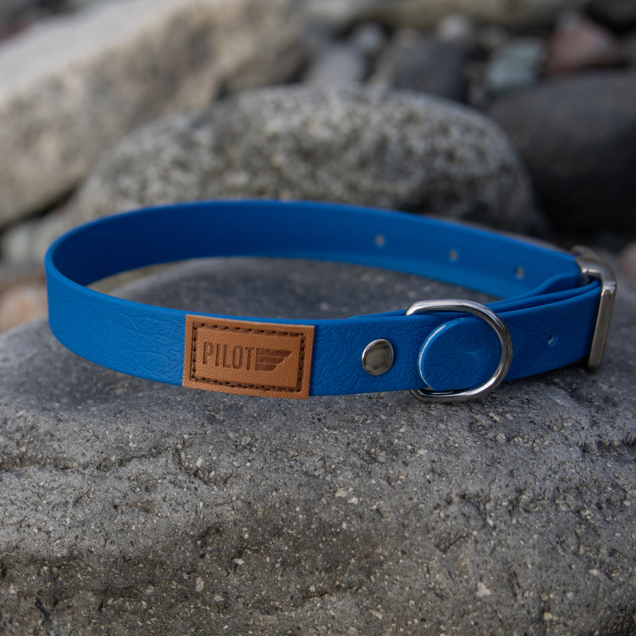 Waterproof collar - Glacier Blue