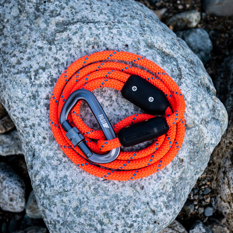 Hunter Orange Climbing Rope Leash