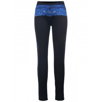 Stylish High-Waisted Printed Slimming Women's Yoga Pants - Black One Size(fit Size Xs To M)