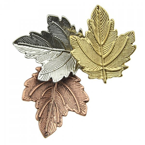 Alloy Maple Leaf Brooch
