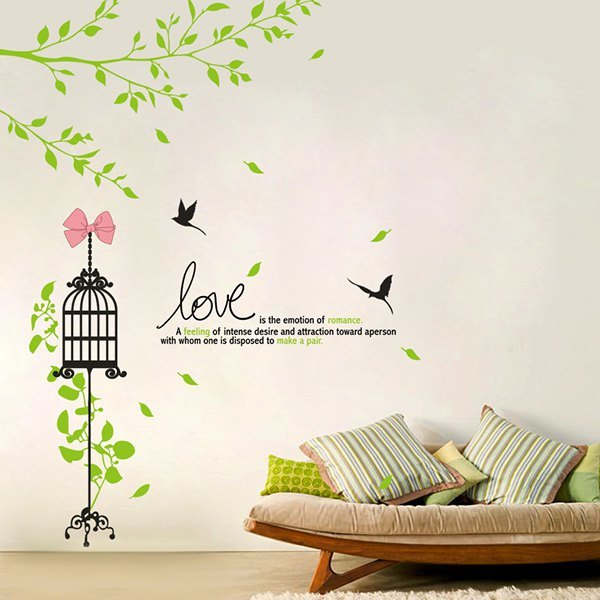 Adornment Cage Vinyl Removable DIY Wall Art Sticker