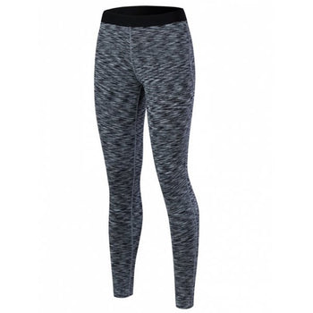 Printed High Waisted Yoga Leggings - Black L