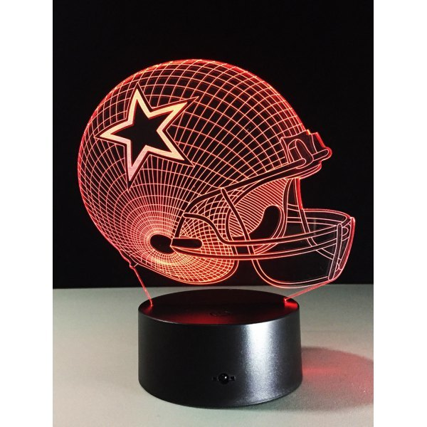 Best Gift 7 Color Changing LED Rugby Touch 3D Kids Night Light