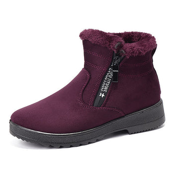 Zipper Fur Lining Boots