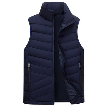 Zipper Side Pockets Windproof Vest