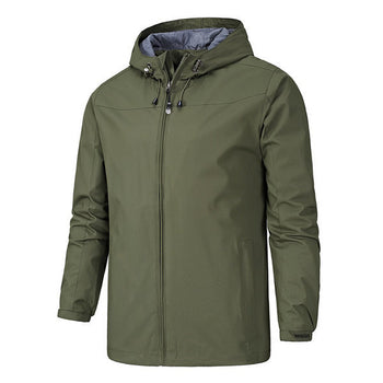 Zipper Hooded Precip Jacket