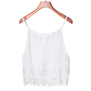 New Spring Women's Loose Lace Boho Style Crop Top