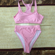 High Waist Bandeau Bikini Brazilian Thong Bikini Push Up Swimsuit Tankini Bathing Suit Biquini Cropped Swim Wear Bikini Set