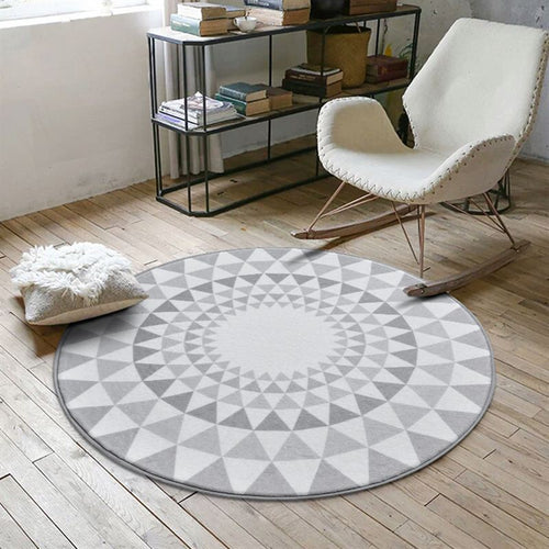 Nordic Gray Series Round Carpets For Living Room Computer Chair Area Rug Children Play Tent Floor Mat Cloakroom Rugs And Carpets