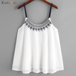 Women's Embroidered Cami Tank Top