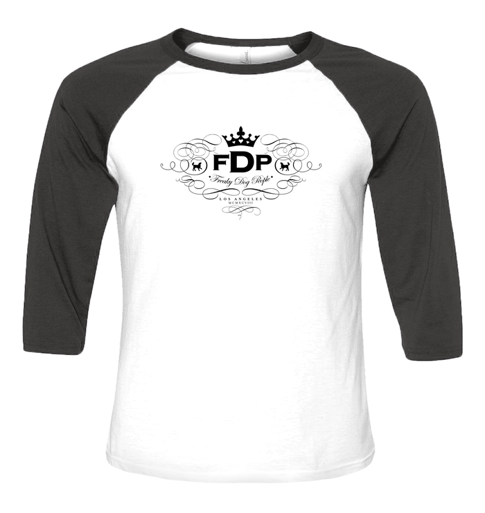 Unisex Black & White Baseball FDP Scroll