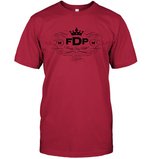 Unisex Red Tee FDP Scroll