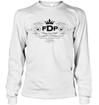 Unisex White Long Sleeve FDP Scroll