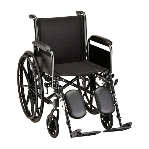 Steel Wheelchair with Detachable Full Arms
