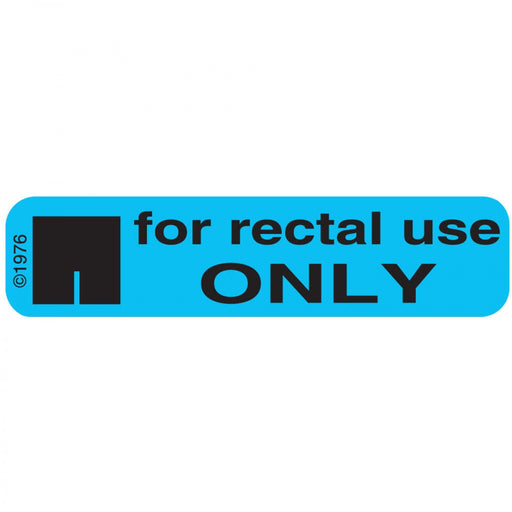 "Label Paper Permanent For Rectal Use 1 9/16"" X 3/8"" Blue 500 Per Roll, 2 Rolls Per Box"