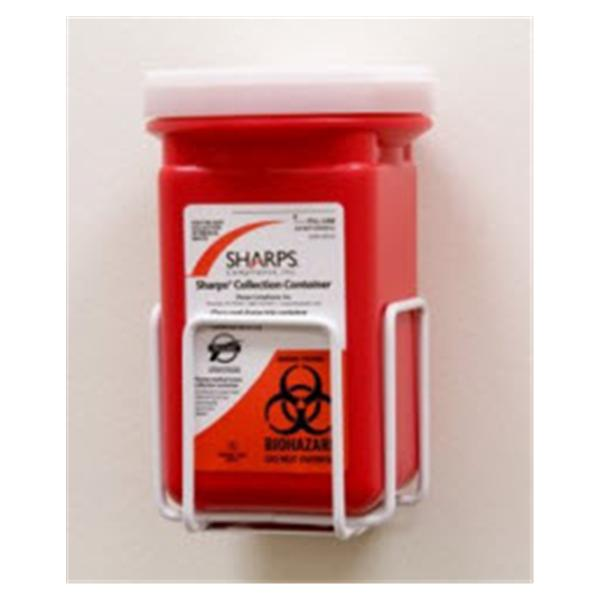 Sharps Compliance Bracket Sharps Quart Metal White Ea