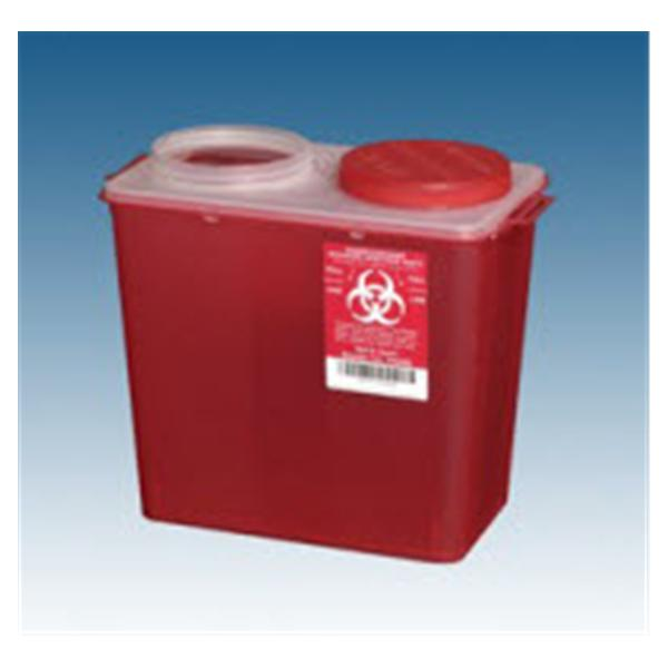 Plasti-Products  Container Sharps 2gal Plastic Screw Cap Red 20/Ca