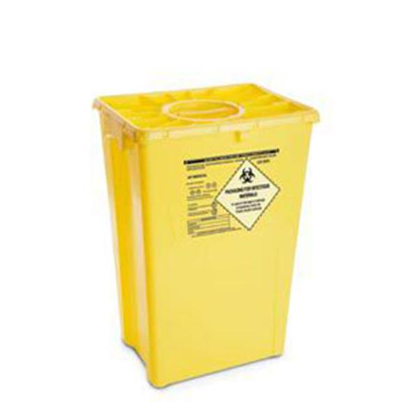 AP Medical Container Waste 12gal Plastic Yellow 8/Ca