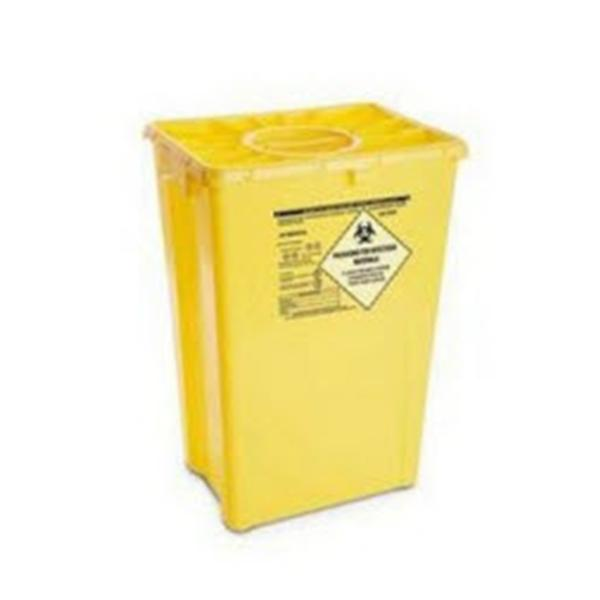 AP Medical Container Sharps 12gal Polyethylene Horizontal Drop Red 8/Ca