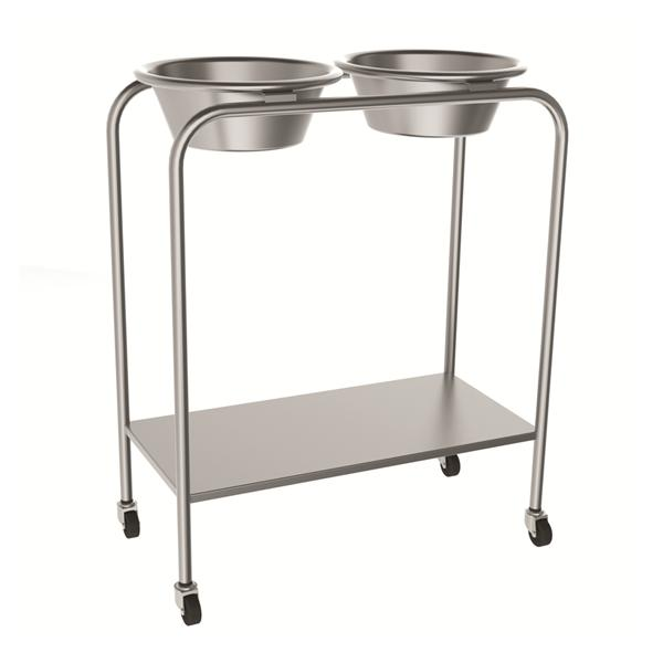 "Mac Medical Stand Ring 14x28x34"" Stainless Steel Double Basin Ea (SOL-2001)"