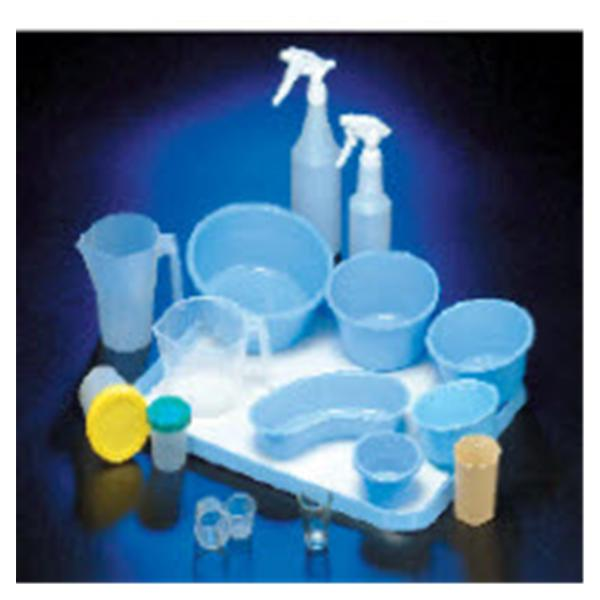 Deroyal Industries  Basin Emesis 700mL Plastic Blue 25/Ca
