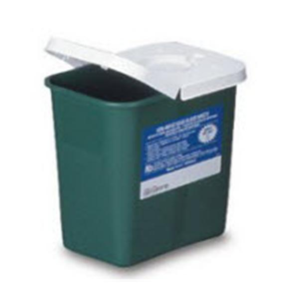 Medtronic MITG-Covidien Container Non-Infectious Waste EnviroStar Plstc 8qt Lid Green Ea