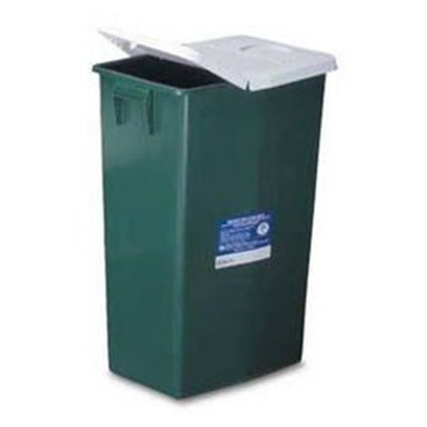 Medtronic MITG-Covidien Container Non-Infectious Waste EnviroStar Plstc 18gal Lid Grn Ea