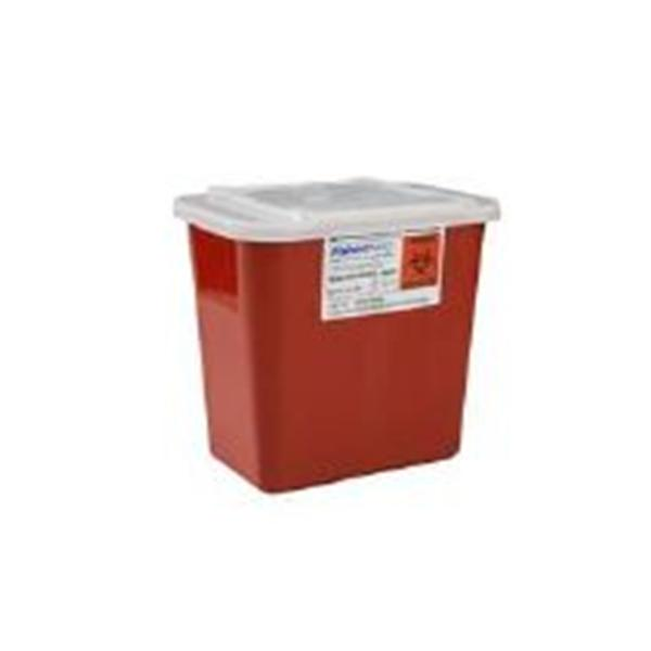 Fisher Scientific  Container Sharps Sharps-A-Gator 7gal Polypropylene Red Ea