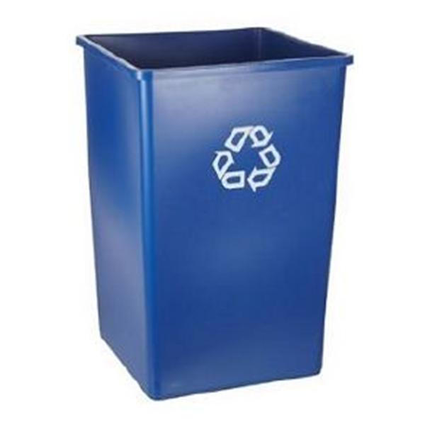 Rubbermaid Container Recycling Plastic 35gal Blue 4/Ca
