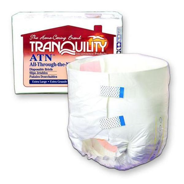 Priple Business Ent Brief Tranquility ATN Adlt Unsx XL 56-64 Max Odr Rdctn Wht 72/Ca