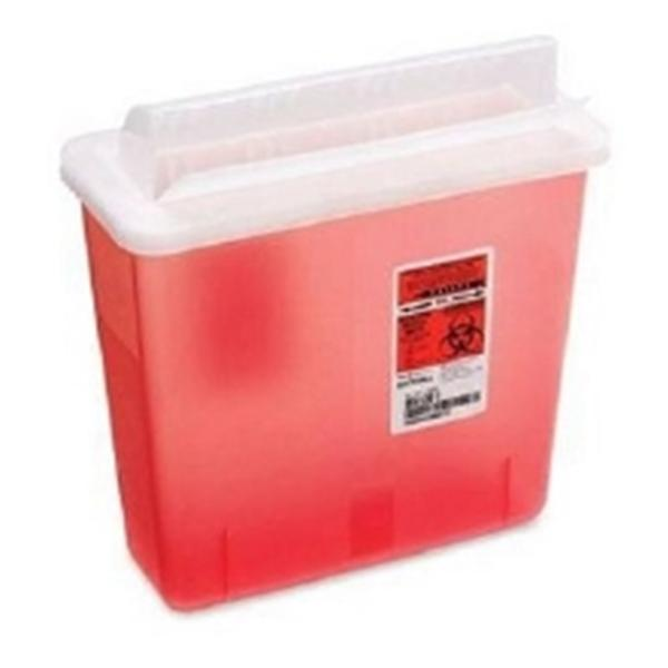 Phlebotic Container Sharps 5qt Red 20/Ca