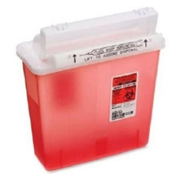 Phlebotic Container Sharps SharpStar 5qt Red 20/Pk