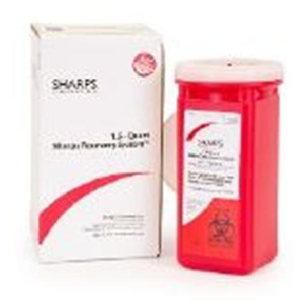 Sharps Compliance Container Sharps Sharps Secure Recovery System 1.5qt Red Ea