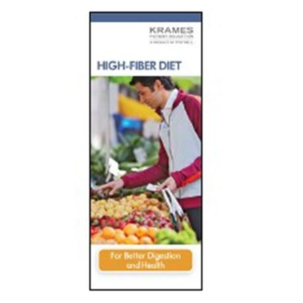 Krames Communications Brochure Educational High-Fiber Diet 50/Pk