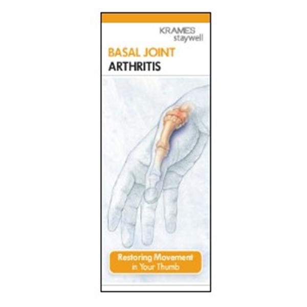 Krames Communications Brochure Educational Basal Joint Arthritis 50/Pk