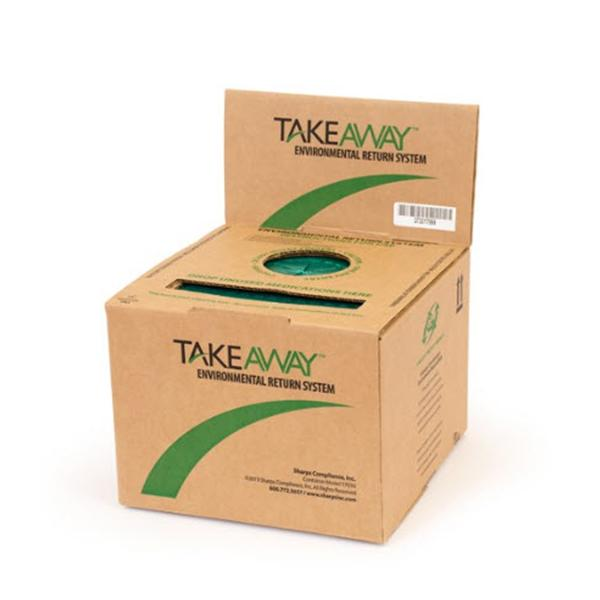 Sharps Compliance Container Disposal TakeAway 3gal Cardboard Red Ea